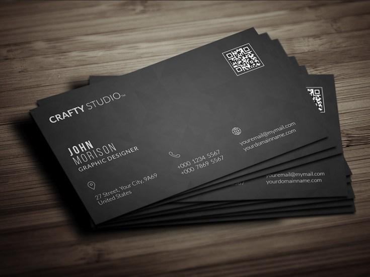 Black Minimal Business Card Template