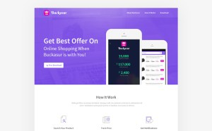 Mobile Application Landing Page