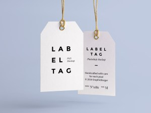 Clothing Label Tag MockUp PSD