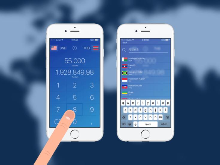 Currency App UI Design