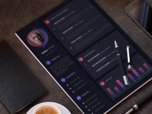 Dark Modern Resume Template