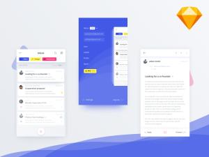 Free Email Client App UI Design