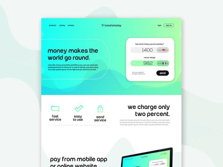 Flat Financial Website Template
