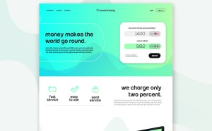 Flat Financial Website Template