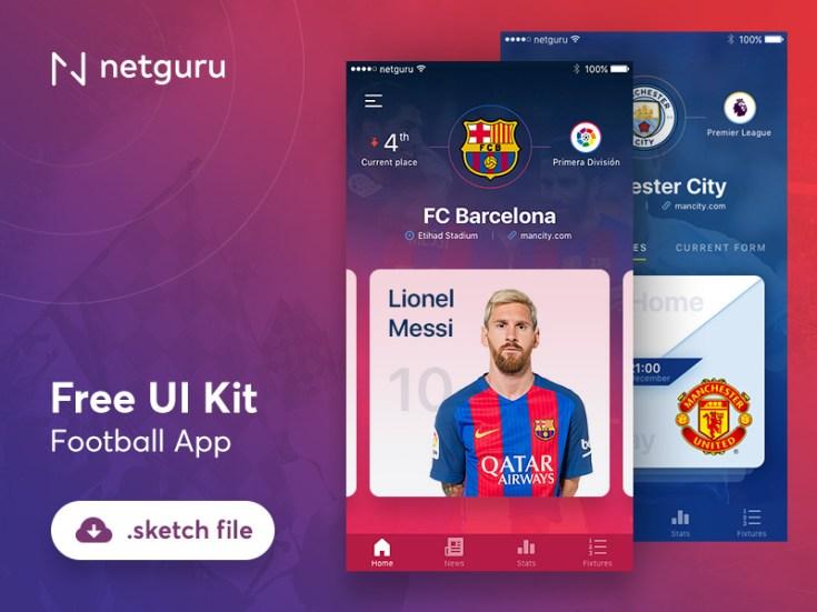 Free Football App UI Kit