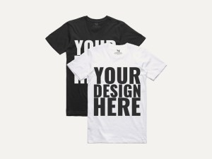 Free Black & White T-shirt Mockups