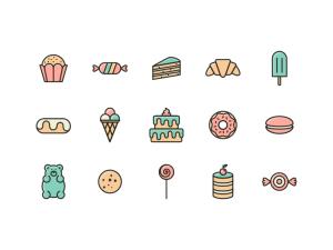 Free Cake Icon Set