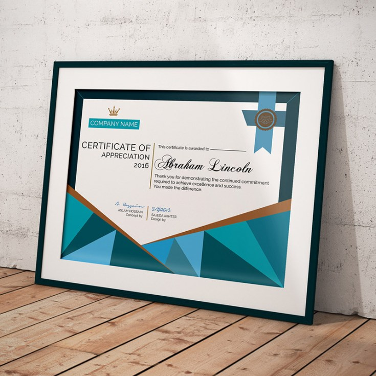 Free certificate template psd free download freebiesjedi for Certificate of appreciation template psd free download