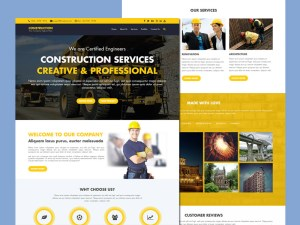Free Construction HTML5 Template