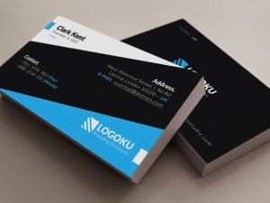 Free Corporate Business Card Template in 6 Colors