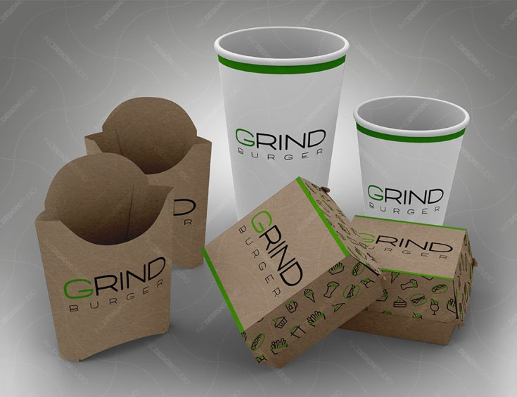 Free Fast Food Packaging Mockup