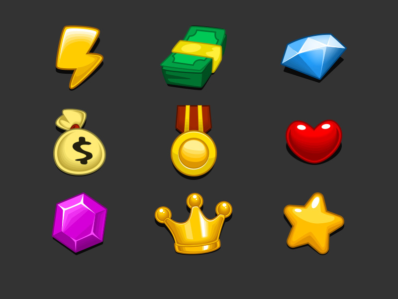 Free Game Currency Icon Set
