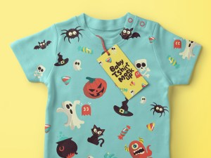 Free Kids T-shirt Mockup PSD