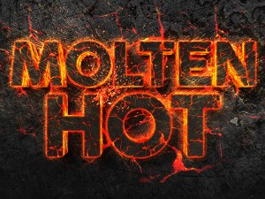Free Molten Hot 3D Text Effect PSD