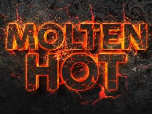 Free Molten Hot 3D Text Effect PSD