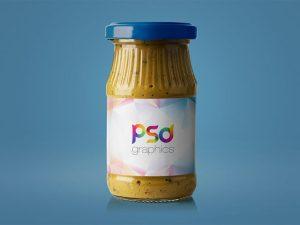 Free Mustard Jar Mockup