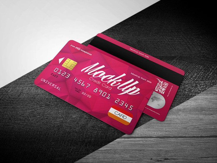 Free Photorealistic Credit Card Mockup