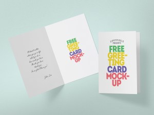 Greeting Card Mockup PSD