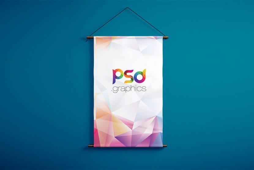 Hanging Banner Mockup PSD