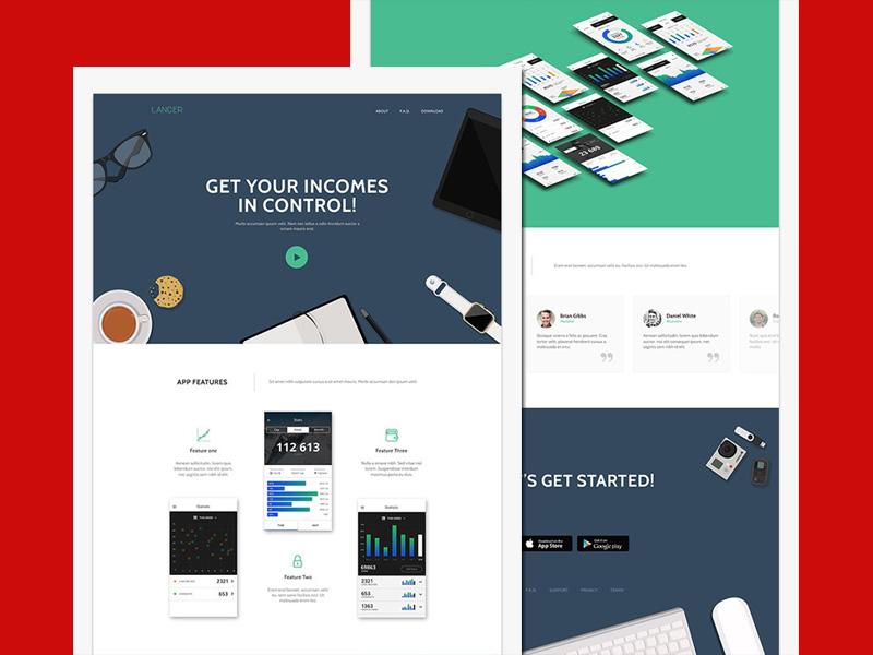 Lancer – Mobile Apps Landing Page Website Template