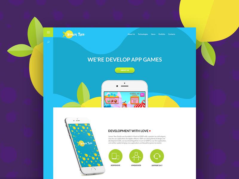 Lemon Tree : Colourful Website Template