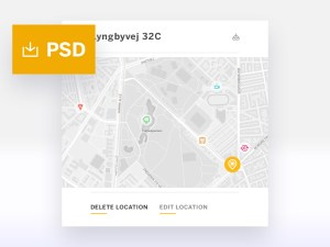 Location Tracker WIdget PSD