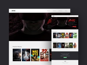 Movie Landing Page Website Template
