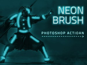 Neon Brush Effect Photoshop Action