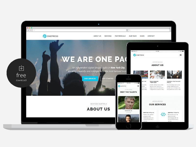 OnePress – Free Business WordPress Theme