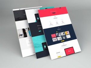 Free Perspective Website PSD Mockup