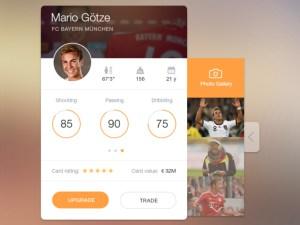 Player Card Widget PSD