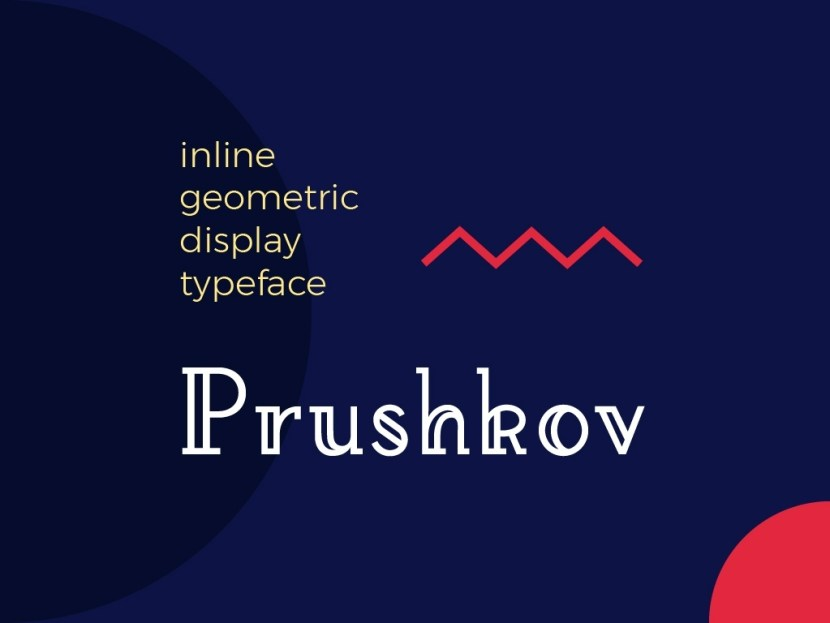Prushkov – Free Inline Geometric Display Font