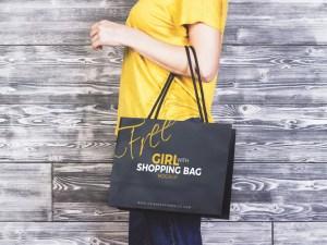 Shopping Bag Mockup on The Hand