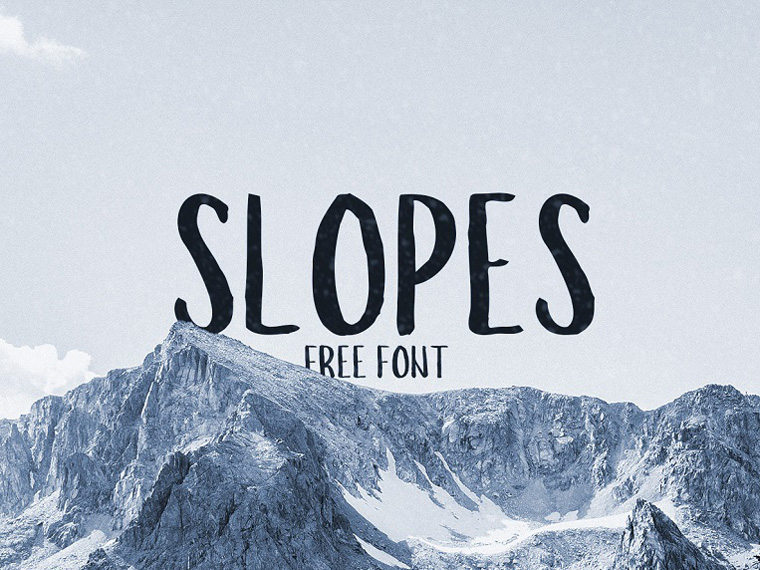Slopes Free Display Font