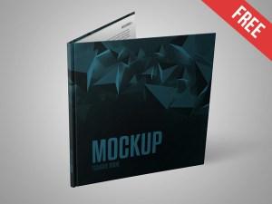 Free Square Book Mockup PSD