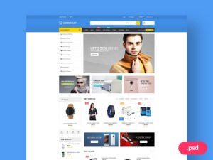 Supermart Free Ecommerce PSD Website Template