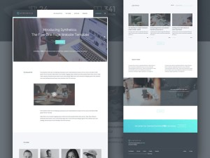 Synthetica : Free One Page HTML5/CSS3 Template