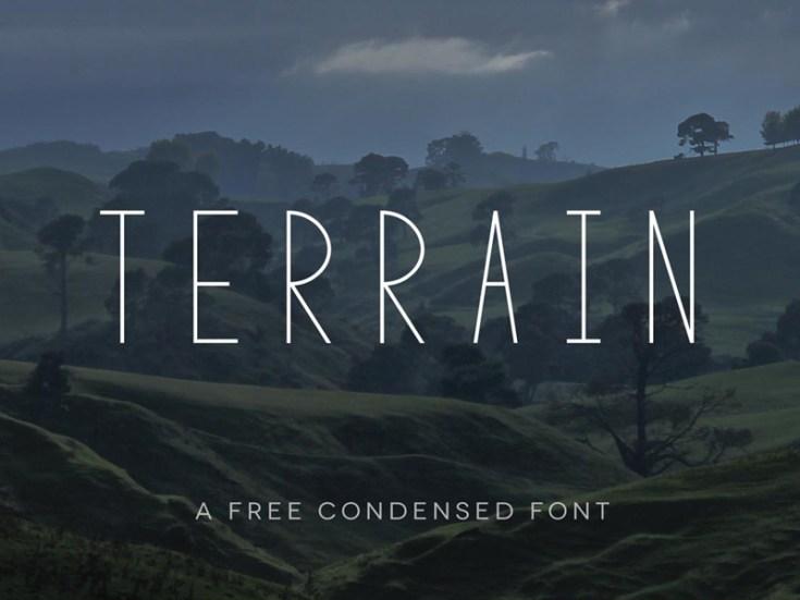 Terrain Minimal Condensed Sans-serif Font