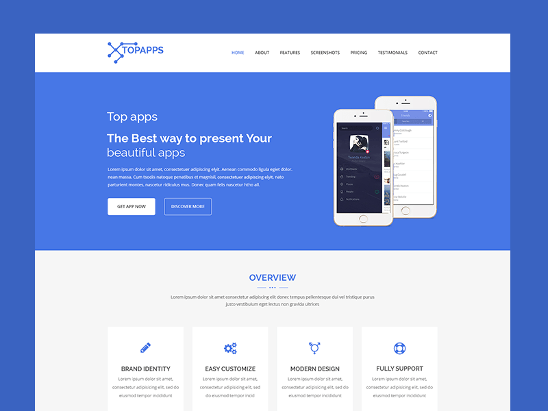 Topapps – App Landing Page Template