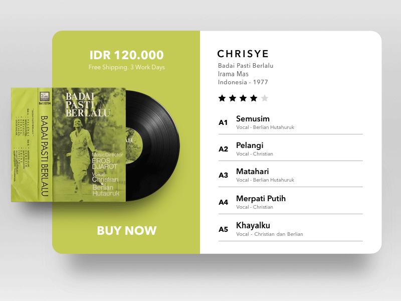 Vinyl Pop Up Widget