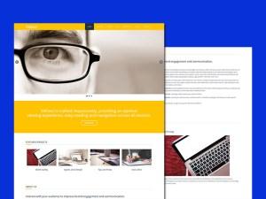 Yellow HTML Template