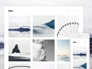 Bloc - Free Photography Wordpress Theme