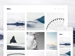 Bloc - Free Photography Wordpress Theme
