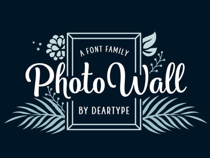 PhotoWall - Free Handmade Typeface
