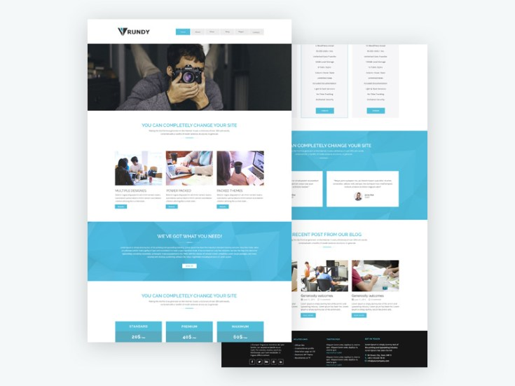 Rundy : Elegant Business PSD Template