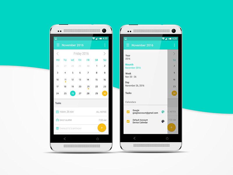 Android Calendar UI Design