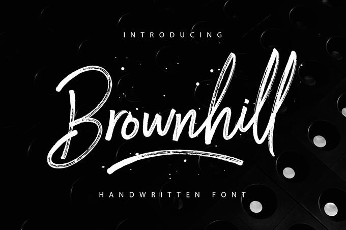 Brownhill Script Free Typeface