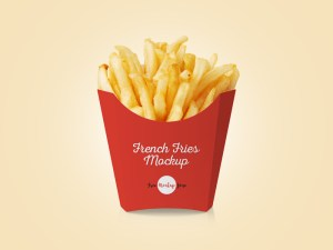 Free French Fries Mockup
