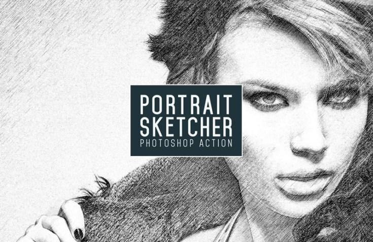 Free Portrait Sketcher Photoshop Action