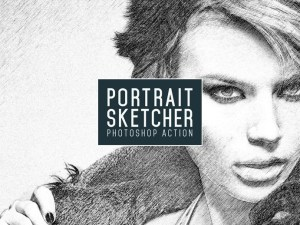 Free Portrait Sketcher Photoshop Action